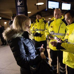 Passkontroll på Kastrup, Köpenhamn