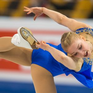 Viveca Lindfors i VM i Boston 2016.