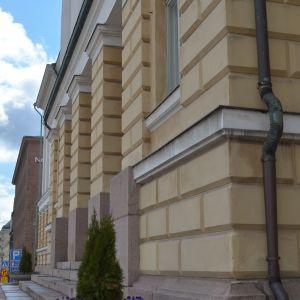 Huvudbyggnaden vid HU i close up
