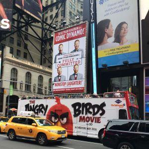Reklam för Angry Birdsfilmen i New York.