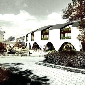 Arkitektbild av Köpmansgatan 7 i Pargas.
