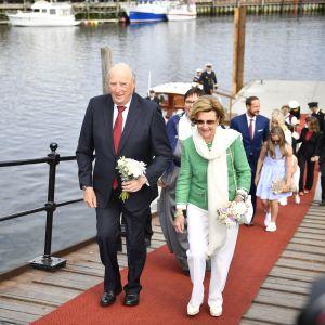 Kung Harald och drottning Sonja besökte Trondheim den 23 juni 2016.