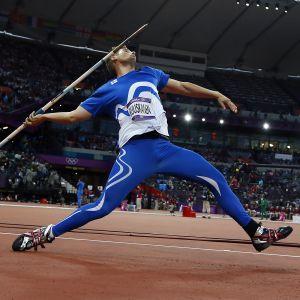 Antti Ruuskanen i elden vid OS i London.
