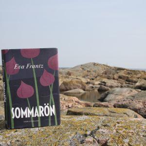 Eva Frantz debutroman Sommarön på några klippor i skärgården.