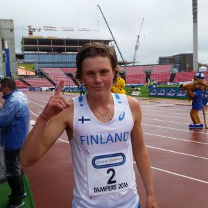 Kevin Lindholm vann 3000 meter i pojkarnas Sverigekamp 2016.