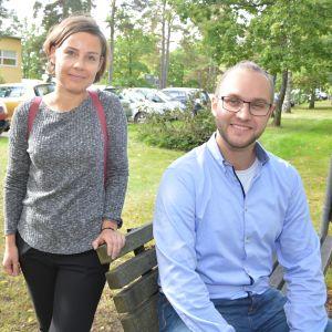 Maija Norontaus och Martin Molnár från yrkeshögskolan Novia.