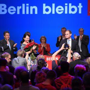Socialdemokraterna fortsätter som det största partiet i Berlin.