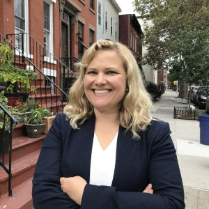 Johanna Törn-Mangs i Brooklyn i New York.