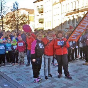 Starten för evenemanget Livsloppet i Jakobstad.
