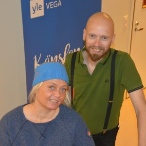 Porträttbild av fredagssnackarna Ilse Klockars och Petri Horttana.