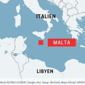 Karta som visar Malta