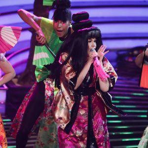 """Saara Aalto uppträdde med låten """"Sound of the Underground"""" av Girls Aloud i brittiska X Factor den 5 november 2016."""