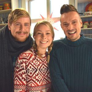 BUU-klubbens programledare Staffan, Hanna och Jonathan