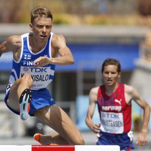 Jukka Keskisalo var en framgångsrik hinderlöpare för Finland.