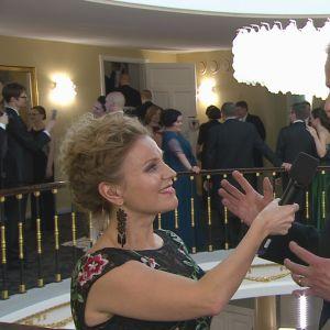 Katja Johansson intervjuar Peter Sandström 6.12.2016 på slottsbalen.