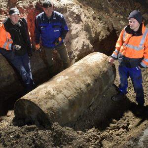 En bomb från andra världskriget hittades i Augsbrug i Tyskland