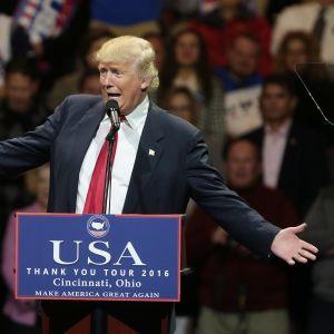 Donald Trump på tackturné i Ohio.
