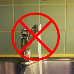 vatten fungerar inte