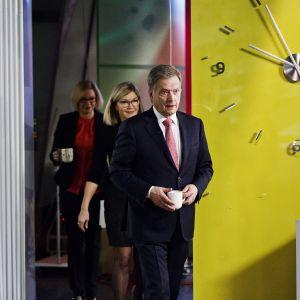 President Sauli Niinistö i Yles morgon-tv.