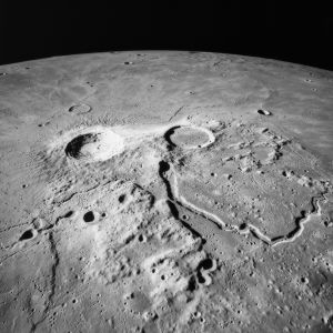 Aristarkos-kratern på månen.