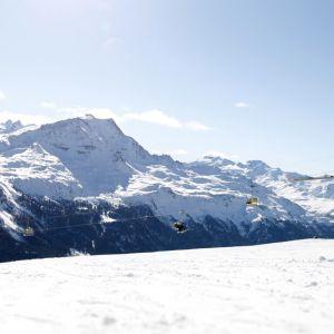 Lisa Magdalena Agerer tränar på störtloppsbanan i St. Moritz.