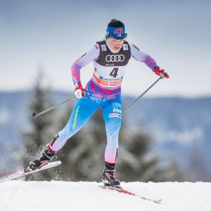 Krista Pärmäkoski åker i Oberstdorf 2017.