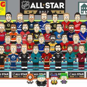 Teknad bild på NHLspelare