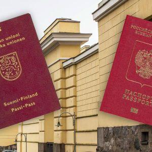 Bild av ryskt och finskt pass.