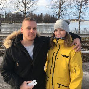Jerry Ståhlberg och Elisabeth Norrgård i Vasa.