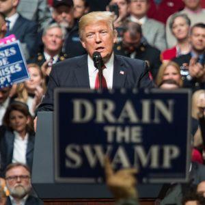 President Trump talar till anhängare i Nashville, Tennessee 15.3.2017