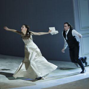Foto från Eugen Onegin på Finlands nationalopera.