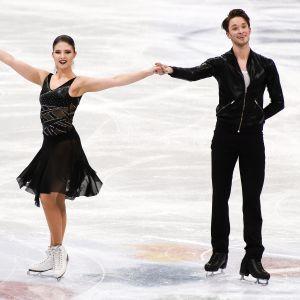 Cecilia Törn och Jussiville Partanen vid VM i Helsingfors 2017.