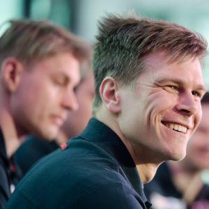 Matias Strandvall ler inför VM 2017.