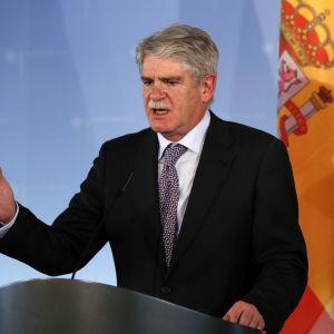 Spaniens utrikesminister Alfonso Dastis skulle inte blockera Skottlands eventuella EU-ansökan.