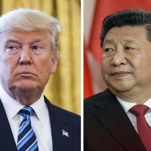 Donald Trump och Xi Jinping