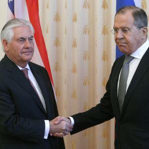 USA:s och Rysslands utrikesministrar Rex Tillerson och Sergej Lavrov