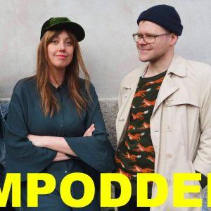 Frida Holmberg, Mia Haglund och Veikka Lahtinen som gör Skam-podden