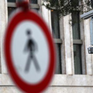 Övervakningskamera i Berlin, Tyskland.