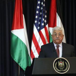 Trump uttalade sig om attacken i Manchester under ett besök i Betlehem.