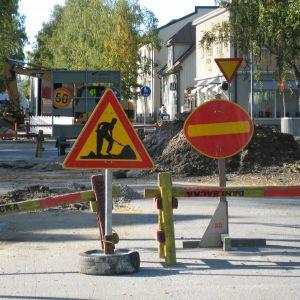 Gatorna som leder till Pedersesplanaden stängs i tur och ordning under hösten