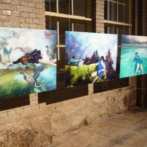 Tavlor i olika motiv från Åbo2011-utställningen.