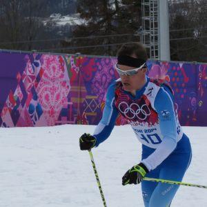Sami Jauhojärvi hiihtää Sotshin olympialaisissa