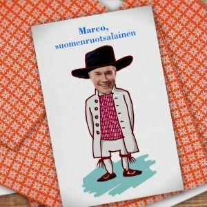 Kuvassa pelikortti, jossa Marco Bjurström.