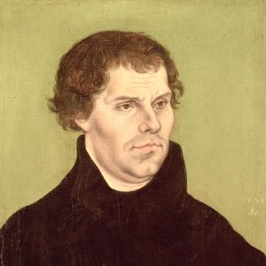 Martti Luther. Maalaus Lucas Cranach the Elder.