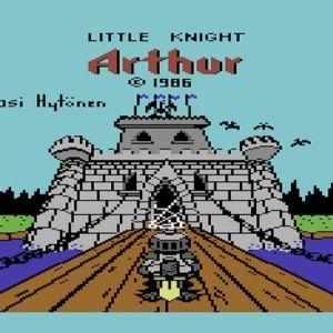 Kuvakaappaus Pasi Hytösen Commodore 64 pelistä Little Knight Arthur.