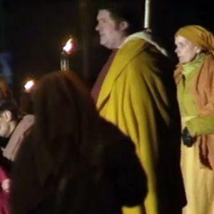 Fredi Via Crucis -kärsimysnäytelmässä 1997