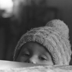 Pipopäinen pikkulapsi 1960