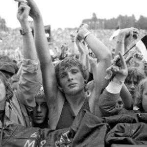 Rock Summer -festivaalin yleisöä Tallinnassa 1988