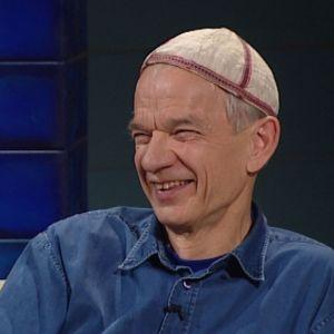 Jaakko Kolmonen Arto Nybergin haastattelussa vuonna 2007.