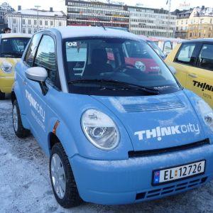Sähköautoja Norjassa 2016.